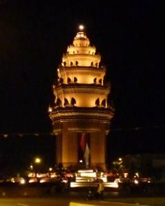 独立記念塔夜景2010