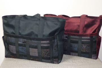 大島紬のパッチワークバッグ