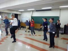 太極拳教室の見学:三鷹市福祉会館にて